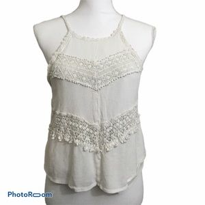 Charlotte Russe crochet cropped tank top. Small